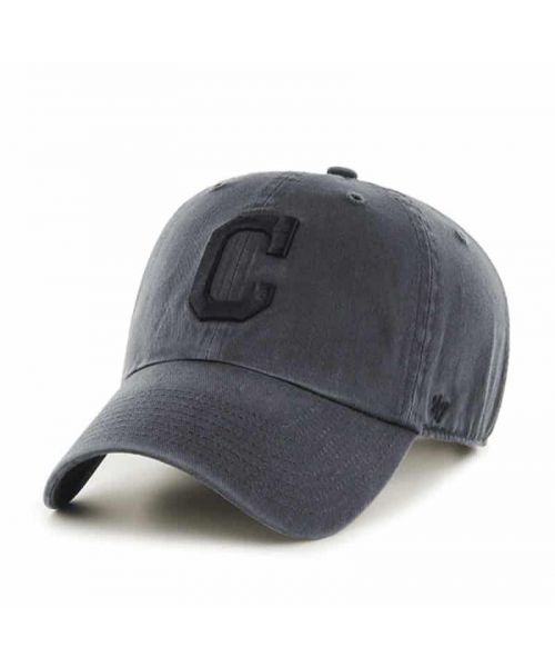 '47 Brand Cleveland Indians MLB Clean Up Adjustable Adult Hat Graphite