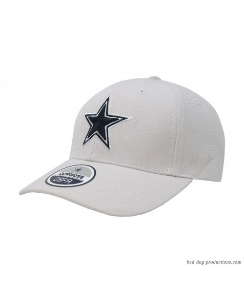 DCM Dallas Cowboys NFL Basic Wool Velcroback Hat White