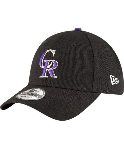 New Era Colorado Rockies MLB The League OSFA 9FORTY Velcroback Hat Black
