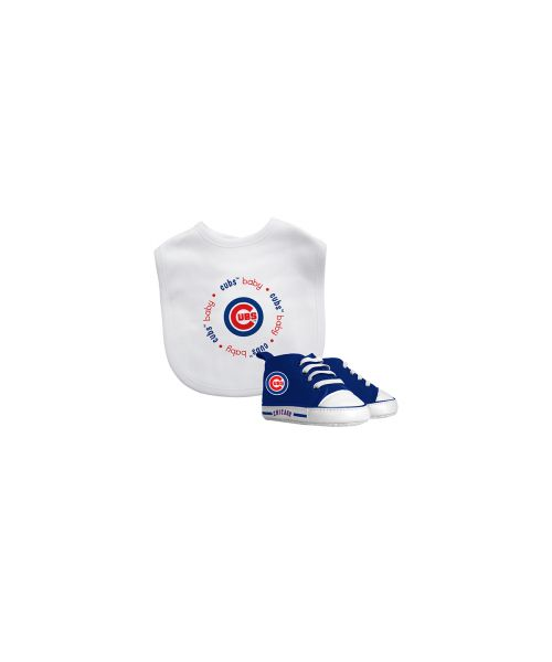Baby Fanatic Chicago Cubs MLB Authentic Bib and Prewalkers Set White Blue
