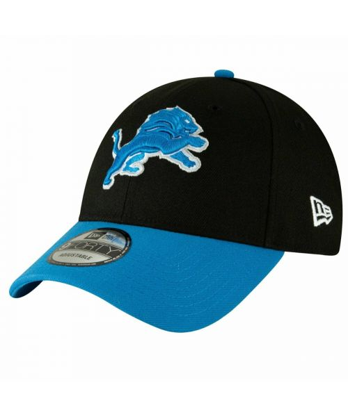 New Era Detroit Lions NFL The League 9FORTY Velcroback Hat Black Light Blue