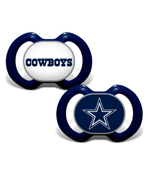 Baby Fanatic Dallas Cowboys NFL 2-Pack Pacifier Navy Blue
