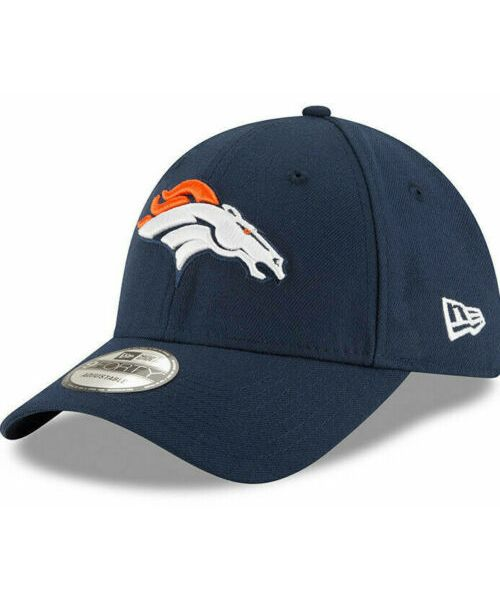 New Era Denver Broncos NFL The League 9FORTY Velcroback Hat Navy Blue