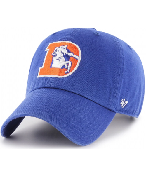 '47 Brand Denver Broncos NFL Clean Up Adjustable Strapback Hat Royal Blue