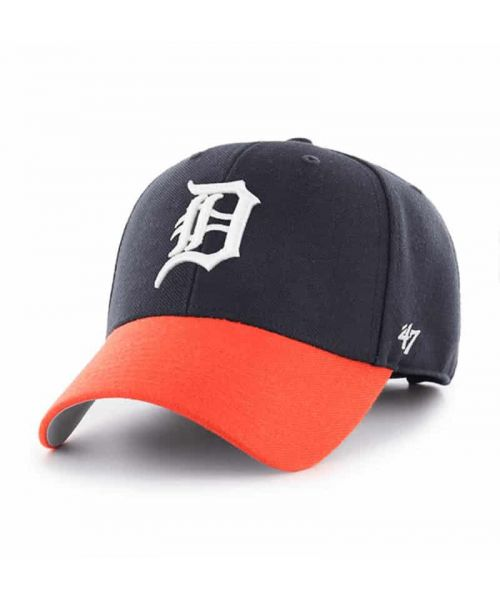 '47 Brand Detroit Tigers MLB MVP Adjustable Adult Hat Navy Blue Orange