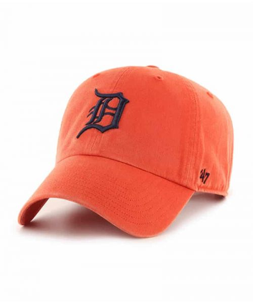 '47 Brand Detroit Tigers MLB Clean Up Adjustable Adult Hat Orange