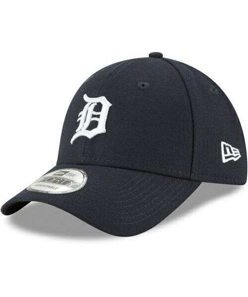 New Era Detroit Tigers MLB The League YOUTH 9FORTY Velcroback Hat Navy Blue White Logo