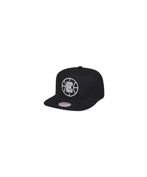 Mitchell & Ness Los Angeles Clippers NBA XL BWG Black Snapback Hat