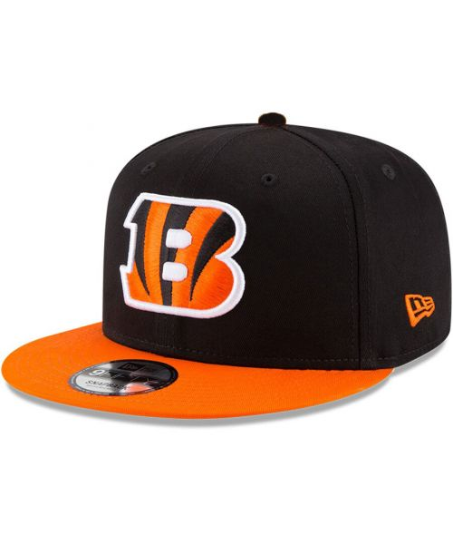 New Era Cincinnati Bengals NFL 2Tone Basic Snap 9FIFTY Snapback Adult Hat Black Orange