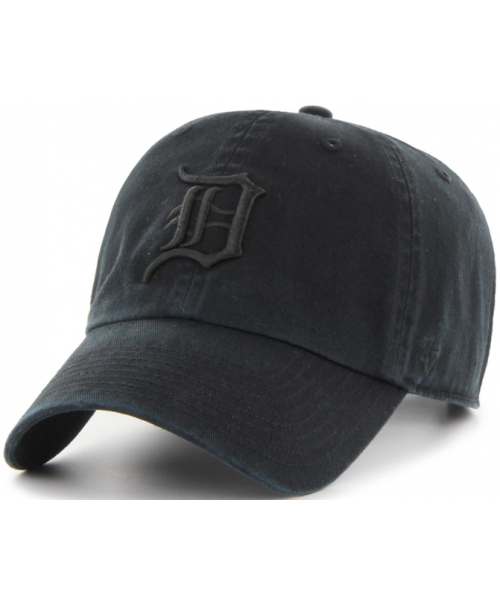'47 Brand Detroit Tigers MLB Clean Up Strapback Hat Black On Black
