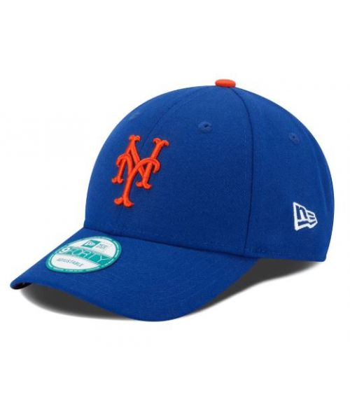 New Era New York Mets MLB The League YOUTH 9FORTY Velcroback Hat Blue