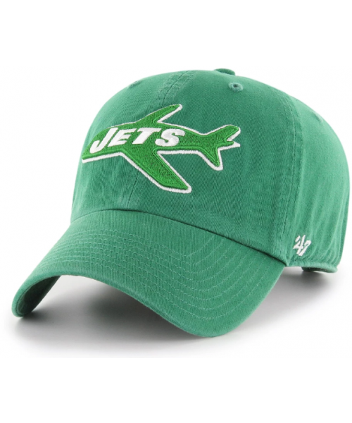'47 Brand New York Jets NFL Clean Up Adjustable Strapback Hat Green