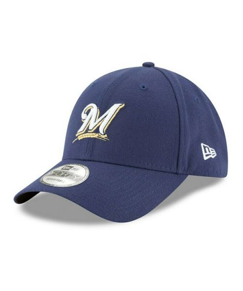 New Era Milwaukee Brewers MLB The League 9FORTY Adjustable Adult Hat Navy Blue