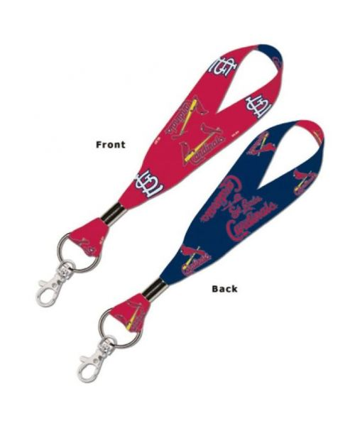 Wincraft St Louis Cardinals MLB Authentic Wristlet Keystrap Ring Navy Blue Red