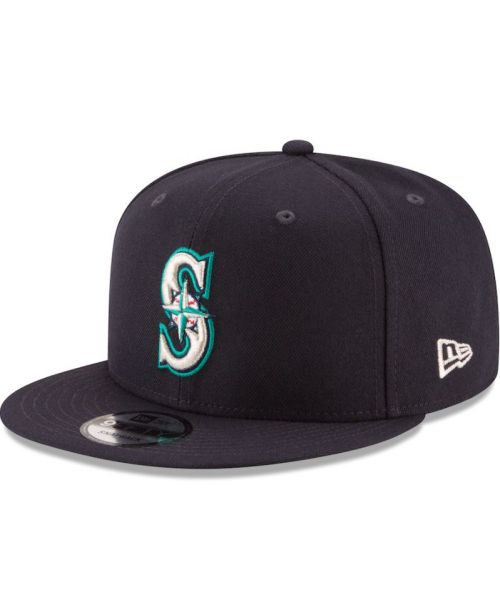 New Era Seattle Mariners NFL Basic Snap 9FIFTY Snapback Adult Hat Dark Navy
