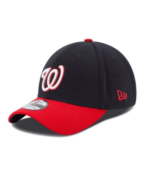 New Era Washington Nationals MLB Team Classic 39THIRTY Stretch Fit YOUTH Hat Navy Blue