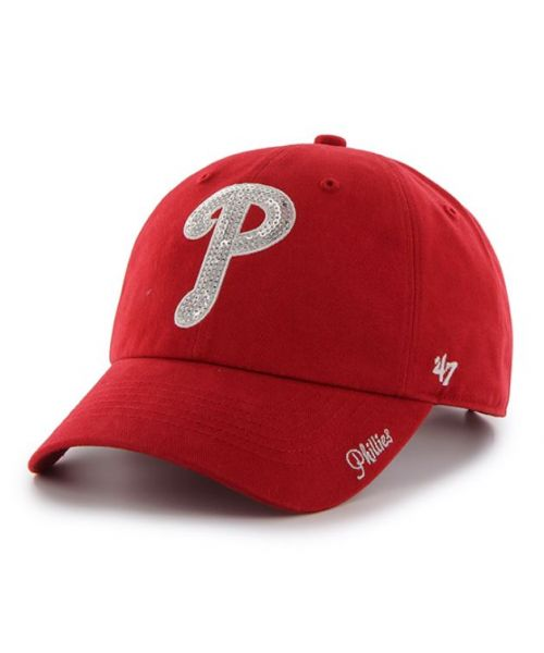 '47 Brand Philadelphia Phillies MLB Sparkle Clean Up Adjustable Womens Hat Red