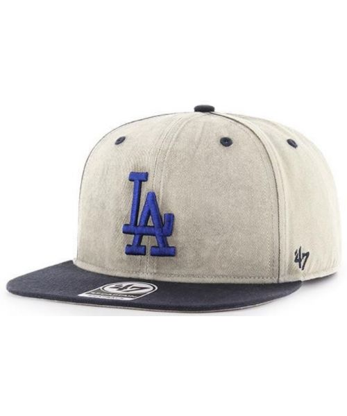 24777427190a29 '47 Brand Los Angeles Dodgers MLB Cement Captain Snapback Hat Distressed  Tan Black · '