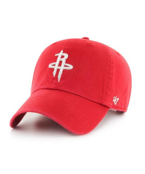 '47 Brand Houston Rockets NBA Clean Up Strapback Adult Hat Red