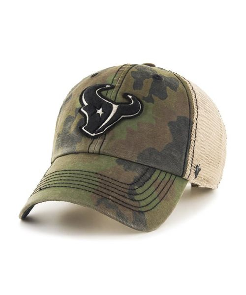 '47 Houston Texans NFL Frontline Burnett Clean Up Velcroback Hat Camo