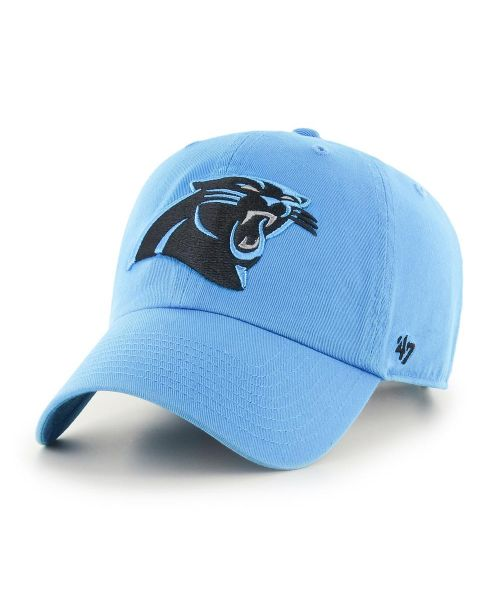 '47 Brand Carolina Panthers NFL Clean Up Strapback Hat Carolina Blue