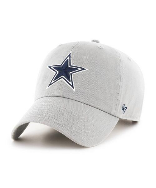 '47 Dallas Cowboys NFL Clean Up Strapback Hat Gray