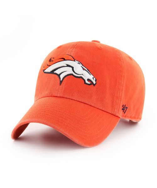 '47 Denver Broncos NFL Clean Up Strapback Hat Orange