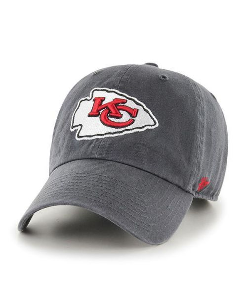 '47 Kansas City Chiefs NFL Clean Up Strapback Hat Gray
