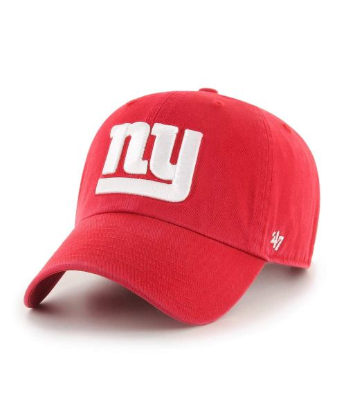 '47 New York Giants NFL Clean Up Strapback Hat Red