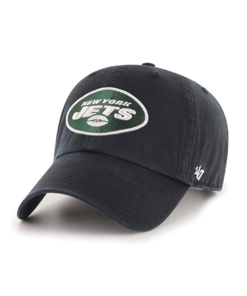 '47 New York Jets NFL Clean Up Strapback Hat Black