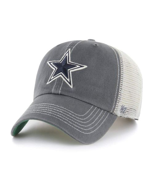 '47 Dallas Cowboys NFL Trawler Clean Up Snapback Trucker Hat Charcoal