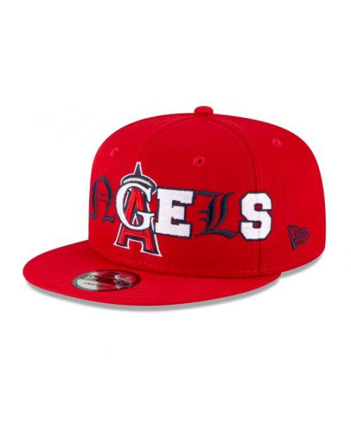 New Era Los Angeles Angels MLB Mixed Font 9FIFTY Snapback Adult Hat Red