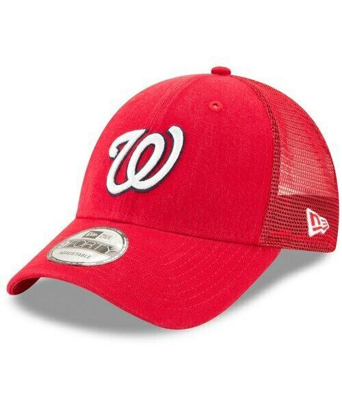 New Era Washington Nationals MLB 9FORTY Truck Snapback Adult Hat Red