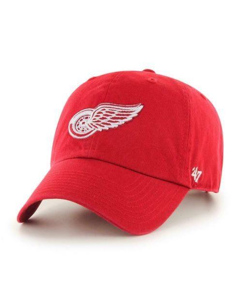 '47 Brand Detroit Red Wings NHL Clean Up Adjustable Strapback Hat Red