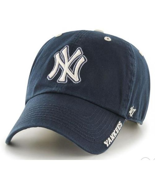 '47 Brand New York Yankees MLB Clean Up ICE Adjustable Strapback Hat Navy Blue