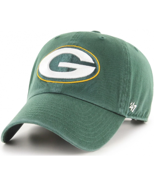 '47 Brand Green Bay Packers NFL Clean Up Adjustable Strapback Hat Green