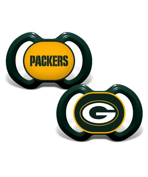 Baby Fanatic Green Bay Packers NFL 2-Pack Pacifier Green