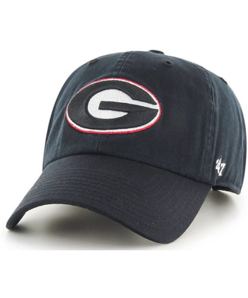 47' Brand Georgia Bulldogs NCAA Clean Up Strapback Adjustable Hat Black