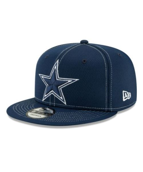 New Era Dallas Cowboys NFL Road Sideline 9FIFTY Snapback Adult Hat Navy