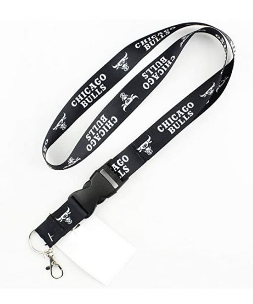 Wincraft Chicago Bulls NBA One Size Lanyard with Detachable Buckle Black