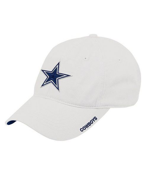 DCM Dallas Cowboys NFL Basic Slouch Strapback Hat White
