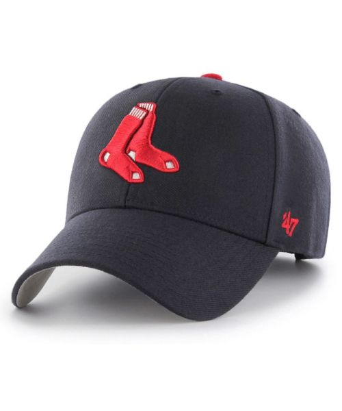 '47 Brand Boston Red Sox MLB MVP Sock Logo Velcroback Hat Navy