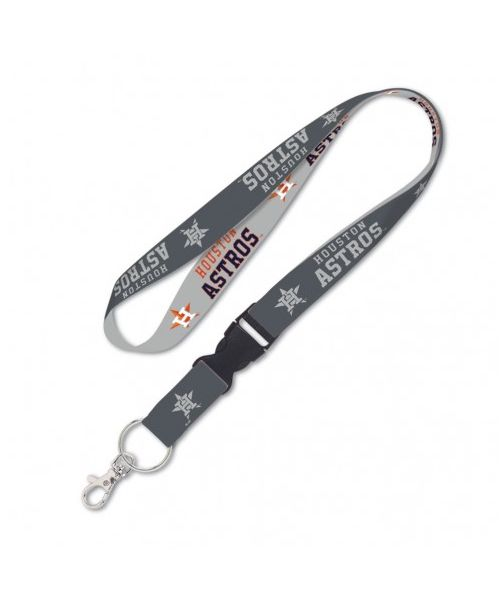 Wincraft Houston Astros MLB Authentic Lanyard with Detachable Buckle Charcoal Light Gray
