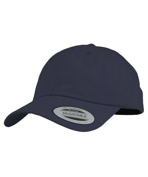 Yupoong The Classics Blank Adjustable Strapback Hat Navy Blue