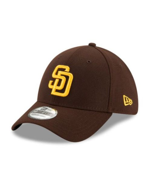 New Era San Diego Padres Team Classic MLB 39THIRTY Stretch Fit Hat Brown