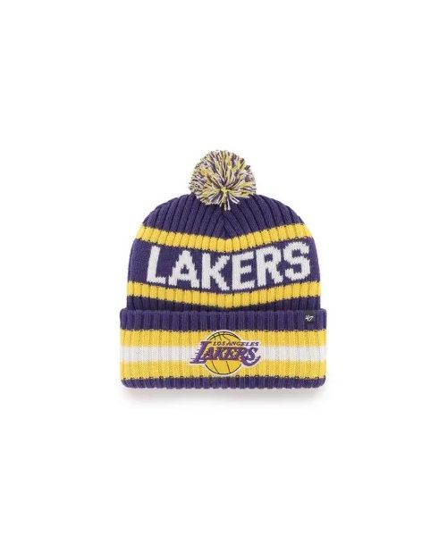 '47 Los Angeles Lakers NBA Bering Cuff Knit Beanie Purple Gold
