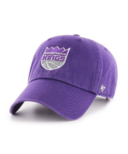 '47 Sacramento Kings NBA Clean Up Strapback Hat Purple