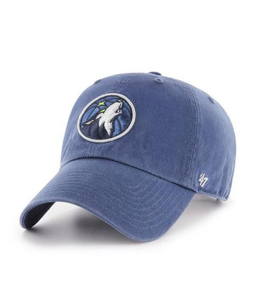 '47 Minnesota Timberwolves NBA Clean Up Strapback Hat Blue