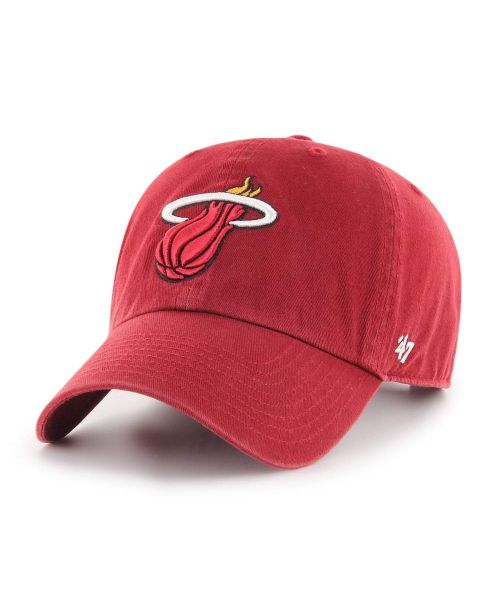 '47 Miami Heat NBA Clean Up Strapback Hat Red