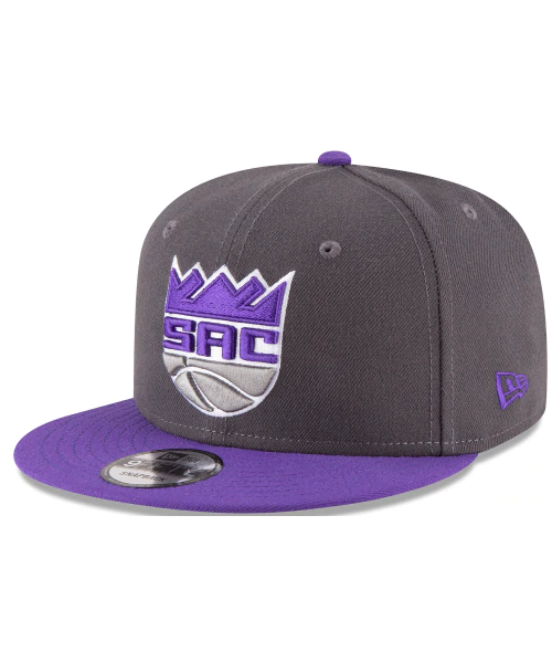 New Era Sacramento Kings NBA Original Fit 2Tone 9FIFTY Snapback Hat Graphite Purple